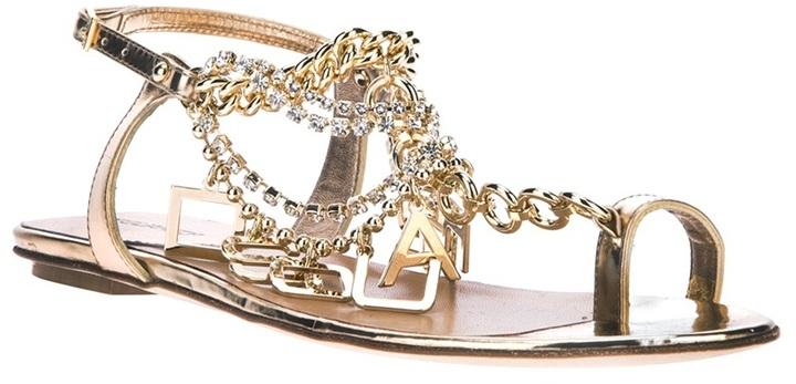 DSquared DSQUARED2 logo chain sandal