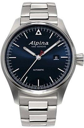 Alpina StartimerパイロットNavy Sunray DialステンレススチールMens Watch al-525 N4s6b