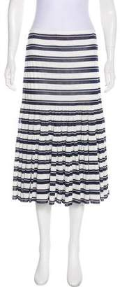Charles Chang-Lima Striped Knee-Length Skirt