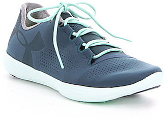 Under Armour Women's Street Precision Low Subtly Perforated Lace-Up Sneakers $79.99 thestylecure.com