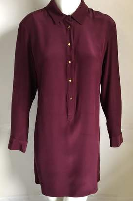 Amanda Uprichard Burgundy Placket Dress