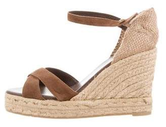 Castaner Suede Wedge Sandals