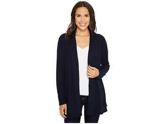 Tribal Long Sleeve Brushed Waffle Knit Cardigan w/ Pockets Women's Sweater