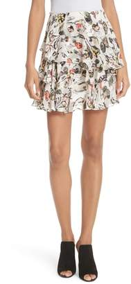 Jason Wu GREY Painterly Floral Print Skirt