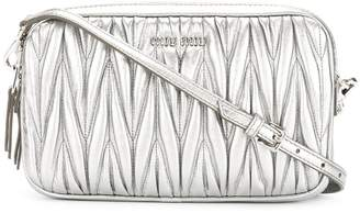 Miu Miu textured leather cross body bag