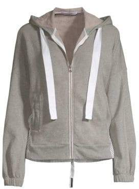 Stateside Linen-Blend Zip-Up Hoodie