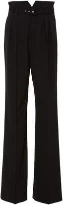 RED Valentino High-Waisted Straight-Leg Suiting Pants