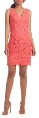 Trina Turk Clover Floral-Laced Dress