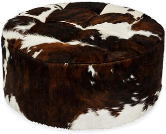 Le-Coterie Le Coterie Solly Ottoman - Tri-Color Cloud