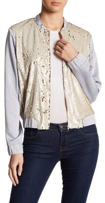 OnTwelfth Sequin Bomber Jacket