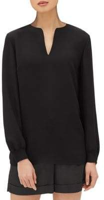 Lafayette 148 New York Roxy Silk Tunic Blouse