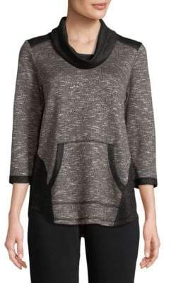 Ruby Rd Pullover Cowl Neck Top