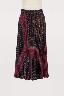 RED Valentino Foulard plisse mid-length skirt