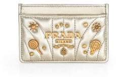 Prada Impunture Dream Leather Card Case