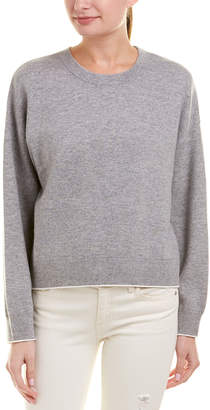 Vince Dropped-Shoulder Cashmere-Blend Crew Sweater