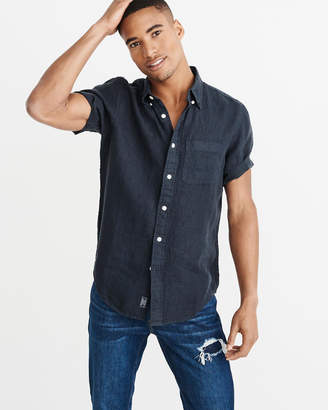 Abercrombie & Fitch Short-Sleeve Button-Up Shirt