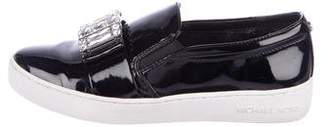 Michael Kors Patent Leather Slip-On Sneakers