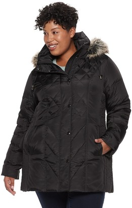 cf0c49da3b2 London Fog Tower By Plus Size TOWER by Hooded Faux-Fur Down Puffer Coat