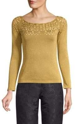 Etro Slim-Fit Lace Knit Top