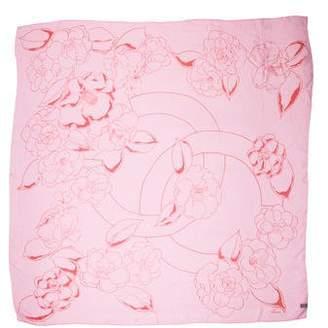 Chanel Camellia Chiffon Scarf