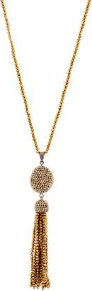 """Joan Rivers Classics Collection Joan Rivers 34"""" Shimmering Pave' Tassel Necklace with 3"""" Extender"""