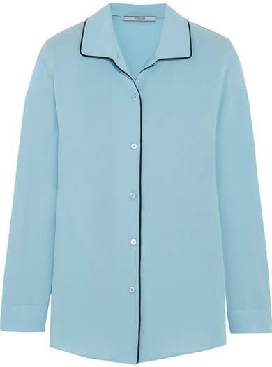 Prada - Silk Crepe De Chine Shirt - Sky blue