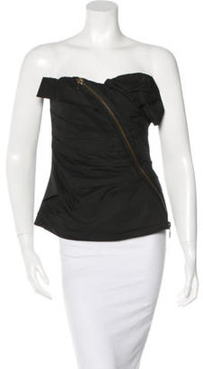 Vera Wang Zip-Accented Bustier Top $110 thestylecure.com