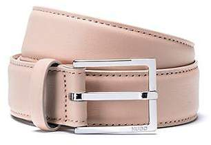 HUGO BOSS Italian leather belt with polished pin buckle