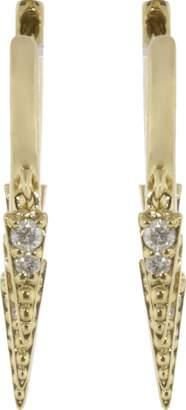 Sydney Evan Large Pave Diamond Fringe Huggie Earrings