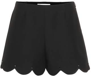 Valentino Scalloped wool and silk shorts