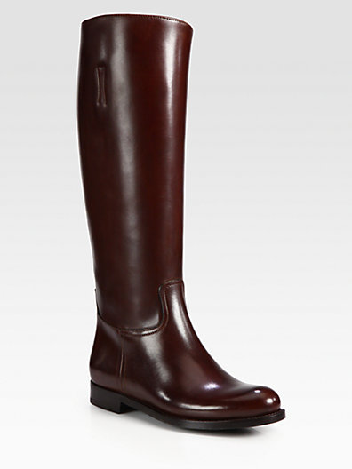 Prada Leather Riding Boots