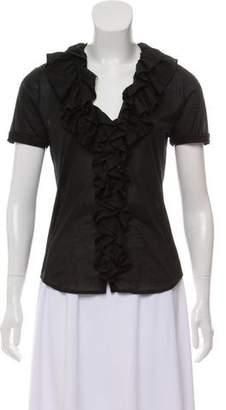 Ralph Lauren Ruffled Short Sleeve Top