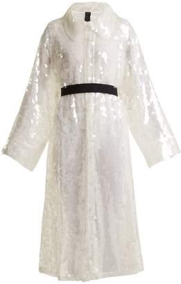 Norma Kamali Belted sequin-embellished trench coat