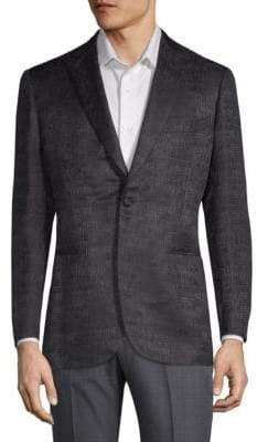 Brioni Wool & Silk Logo Suit Jacket