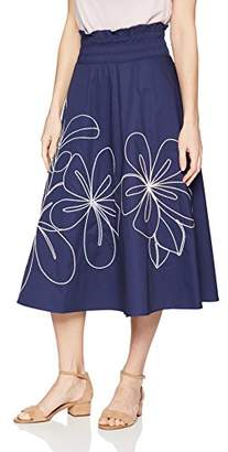 Parker Women's Wen Mid Length Elastic Waist Embroidered Skirt