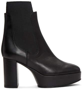 Acne Studios Black Platform Chelsea Boots