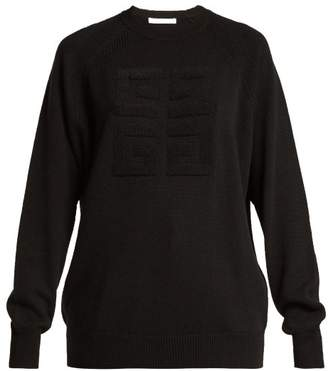 Givenchy Logo Stitched Cashmere Sweater - Womens - Black