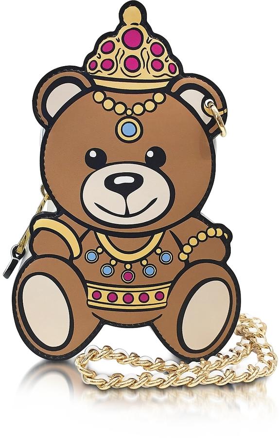 MoschinoMoschino White Leather Teddy Bear Bag