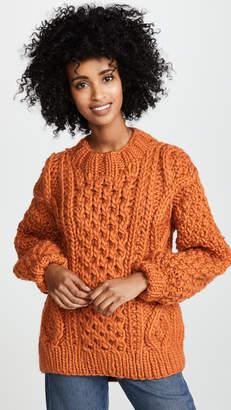 I Love Mr Mittens Aran Crew Neck Sweater