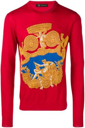 Versace Baroque knit sweater