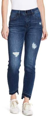 Seven7 Tummyless Skinny Jean with Uneven Hem