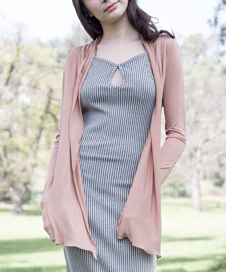 Light Mocha Open Cardigan