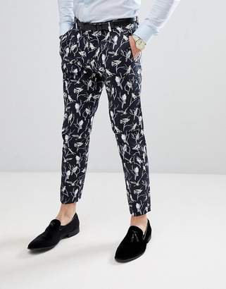 Jack and Jones Slim Suit PANTS With All Over Print