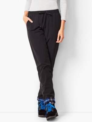 Talbots Fleece Cuff Straight Leg Pants