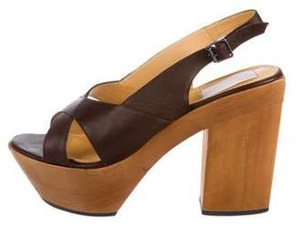 Lanvin Wooden Platform Sandals