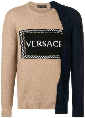 Versace contrast logo jumper