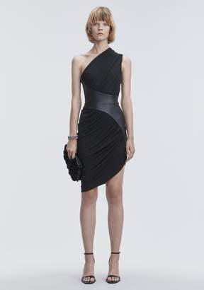 Alexander Wang ASYMMETRIC DRAPED JERSEY DRESS 3/4 Length Dress