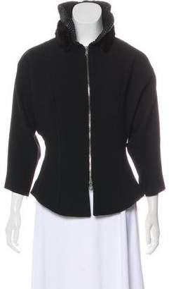 Andrew Gn Mink-Trimmed Virgin Wool Jacket w/ Tags