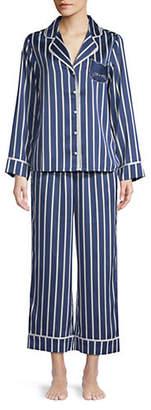 Kate Spade Two-Piece Notch Collar Cropped Pyjama Set