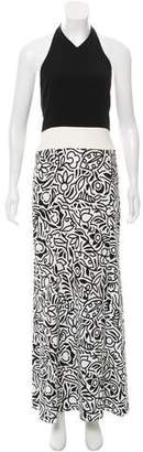 Narciso Rodriguez Printed Halter Dress